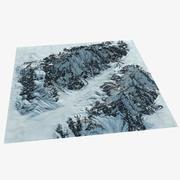 Рельеф горного хребта Аляска 46 Пейзаж 3d model