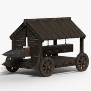 Medieval battering ram 3d model