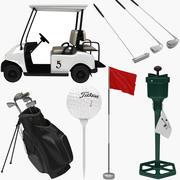 Golfutrustningssamling 1 3d model