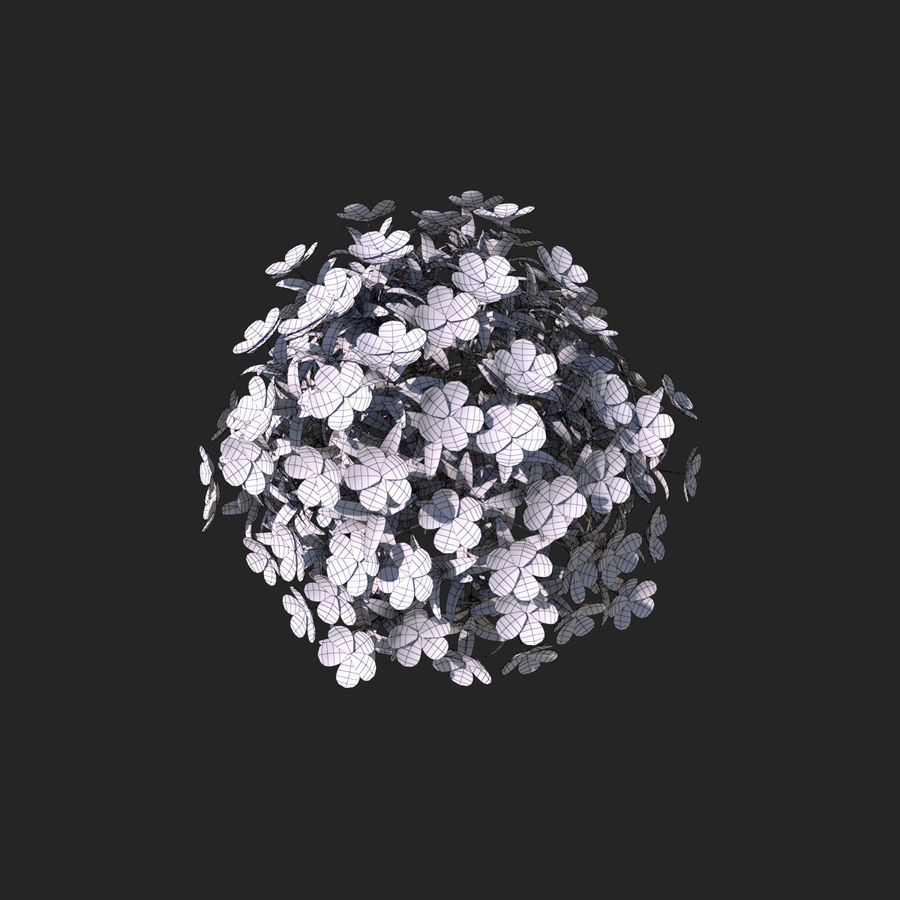 Pacote de arbusto de flores royalty-free 3d model - Preview no. 17