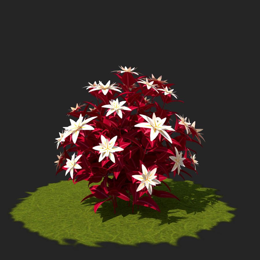 Pacote de arbusto de flores royalty-free 3d model - Preview no. 34
