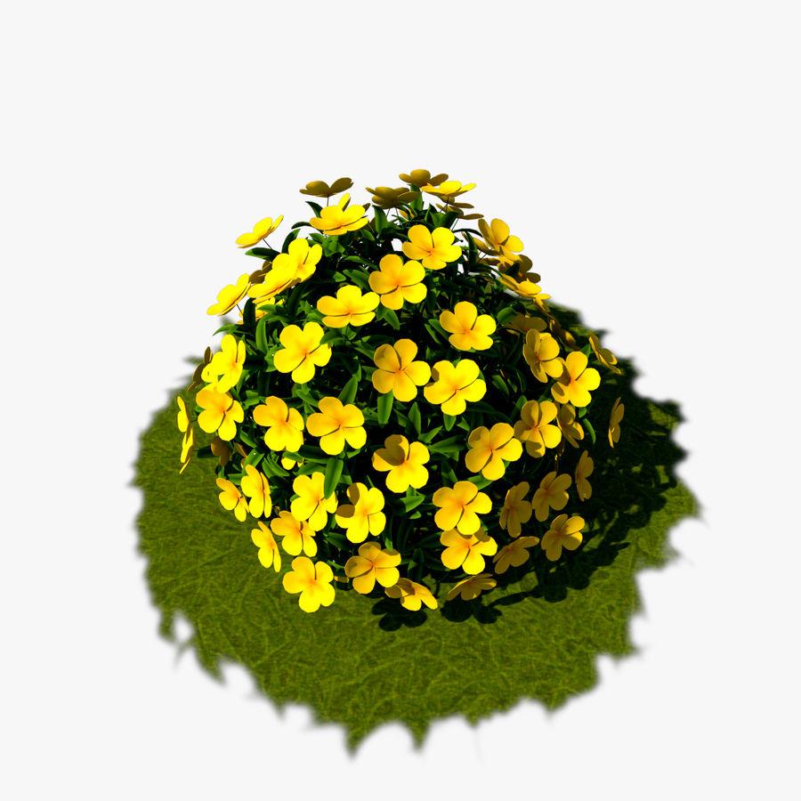 Pacote de arbusto de flores royalty-free 3d model - Preview no. 12