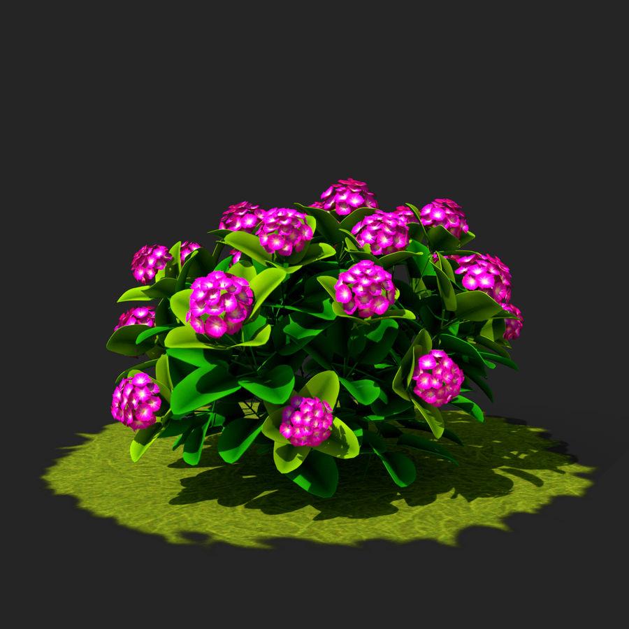 Pacote de arbusto de flores royalty-free 3d model - Preview no. 4
