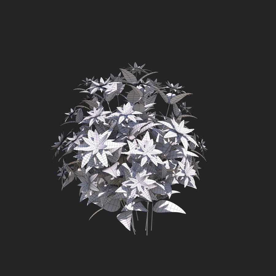 Pacote de arbusto de flores royalty-free 3d model - Preview no. 37