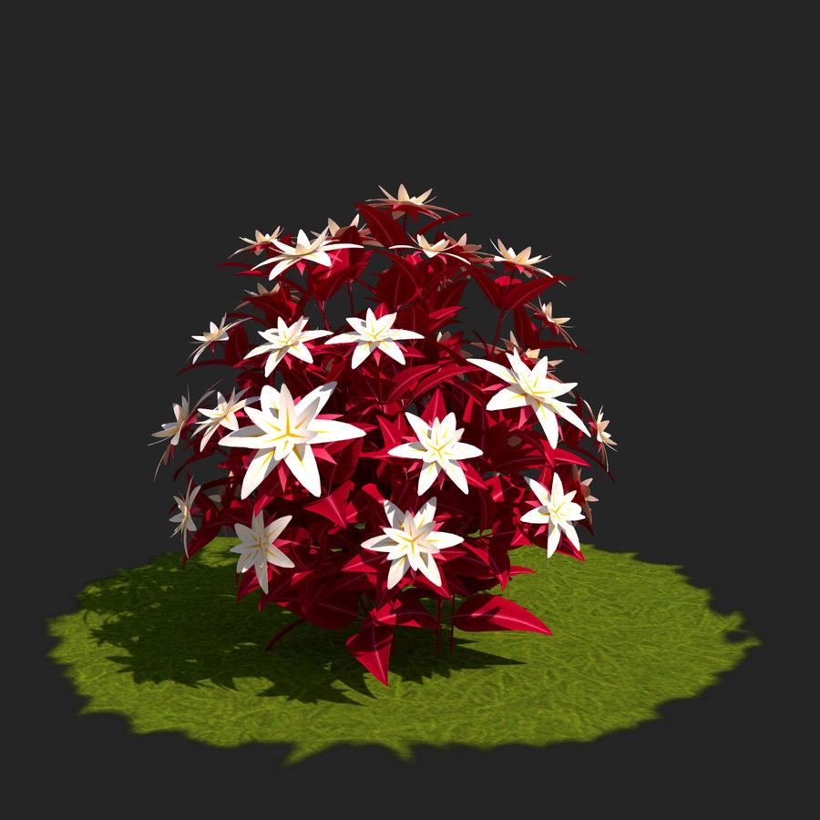 Pacote de arbusto de flores royalty-free 3d model - Preview no. 35