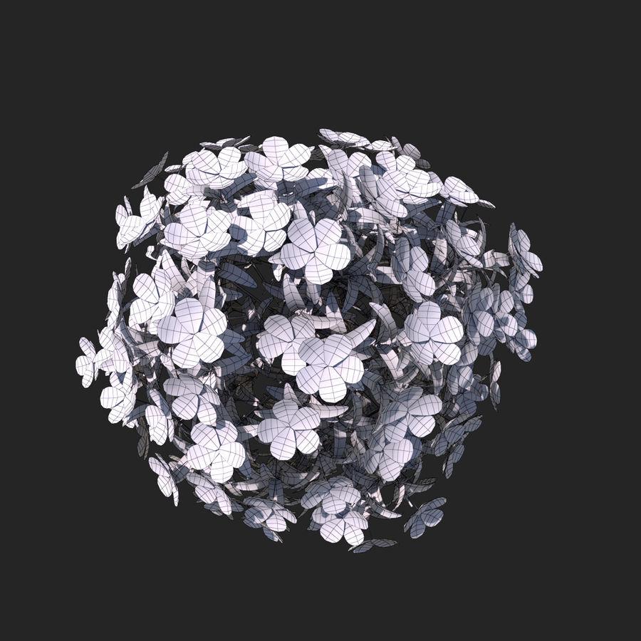 Pacote de arbusto de flores royalty-free 3d model - Preview no. 18