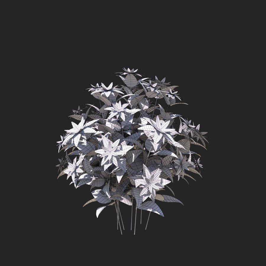 Pacote de arbusto de flores royalty-free 3d model - Preview no. 40