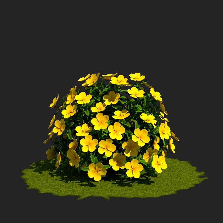 Pacote de arbusto de flores royalty-free 3d model - Preview no. 14