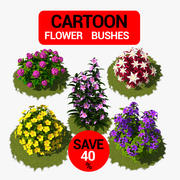 Flower Bush Package 3d model