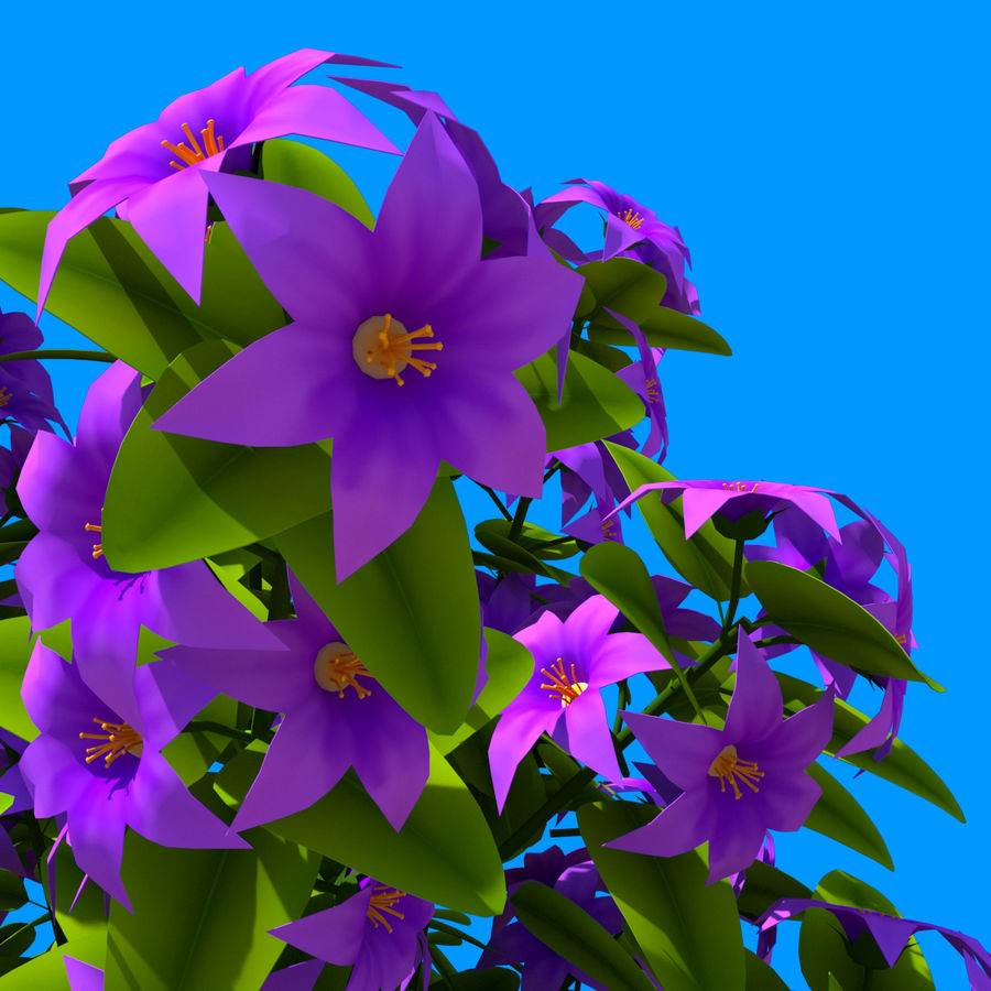 Pacote de arbusto de flores royalty-free 3d model - Preview no. 46