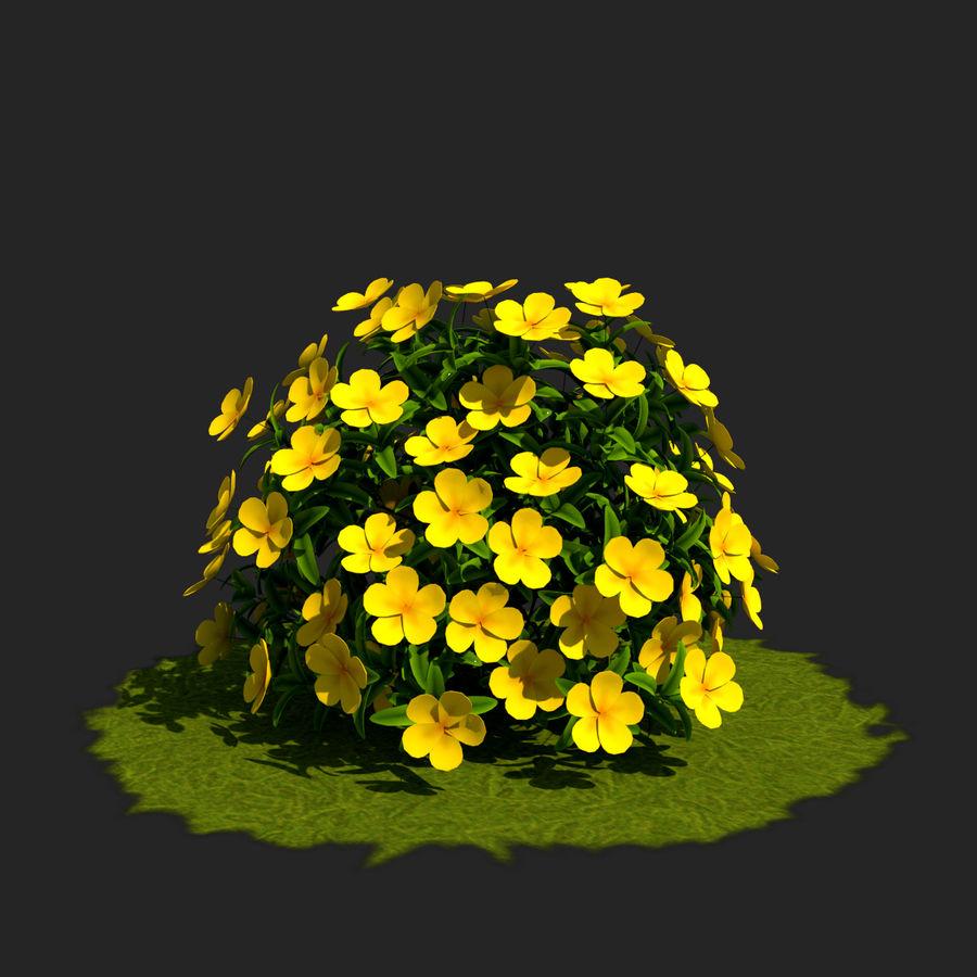 Pacote de arbusto de flores royalty-free 3d model - Preview no. 15
