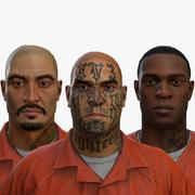 Prigionieri di strutture correttive Low Poly 3d model