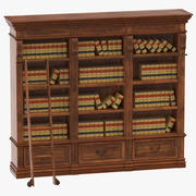 Shelf with Law Books 3d model