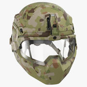 Facial Armor Helmet 3d model