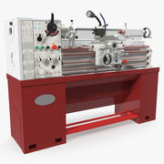 Heavy Duty Lathe Machine Generic 3D Model 3d model