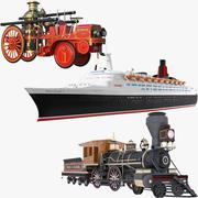 Collection de véhicules à vapeur 3d model