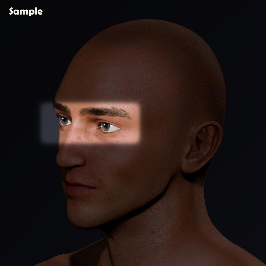 Реалистичный человеческий глаз V2 royalty-free 3d model - Preview no. 25