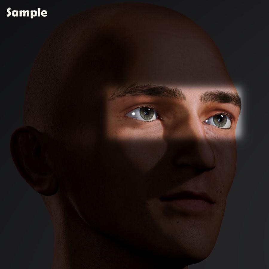 Реалистичный человеческий глаз V2 royalty-free 3d model - Preview no. 26
