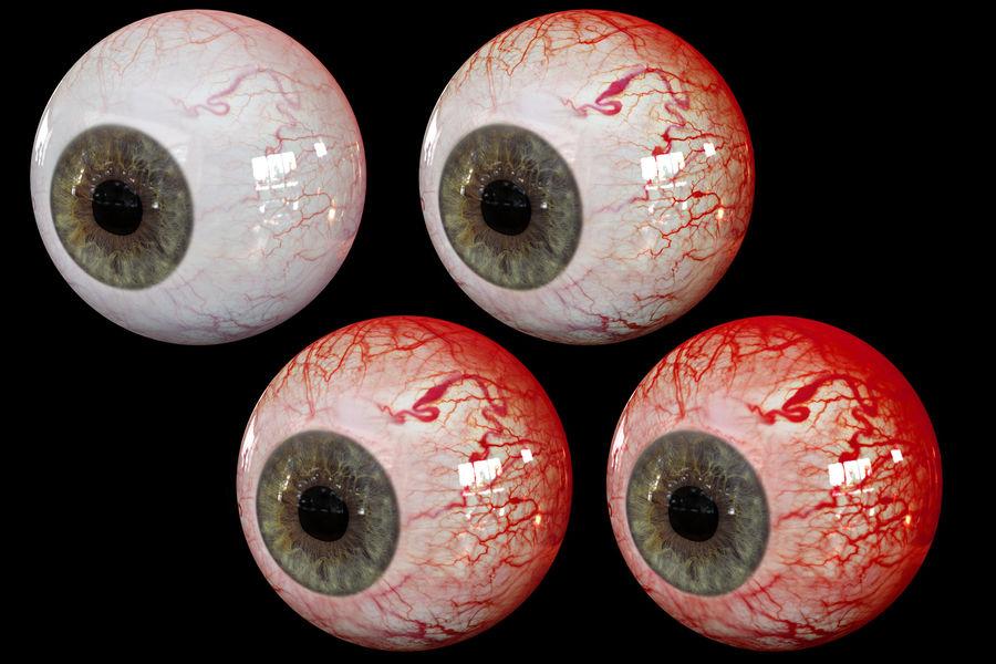 Реалистичный человеческий глаз V2 royalty-free 3d model - Preview no. 17