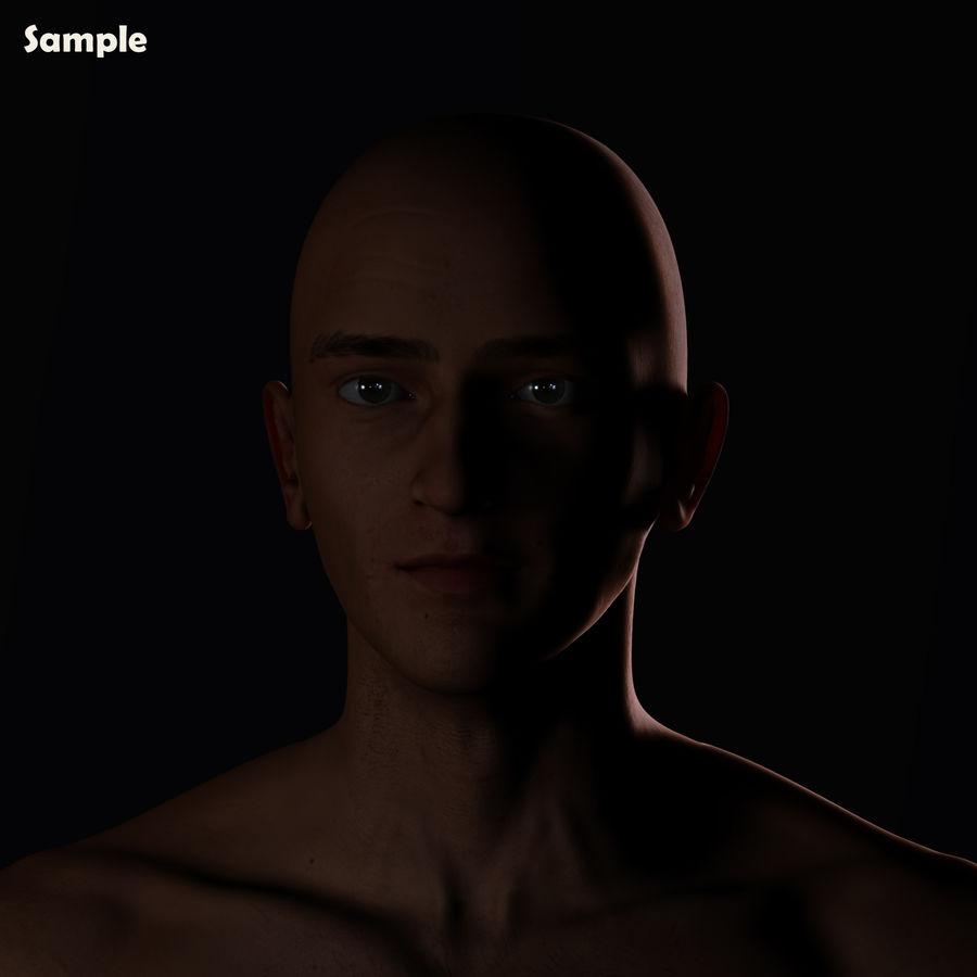 Реалистичный человеческий глаз V2 royalty-free 3d model - Preview no. 27