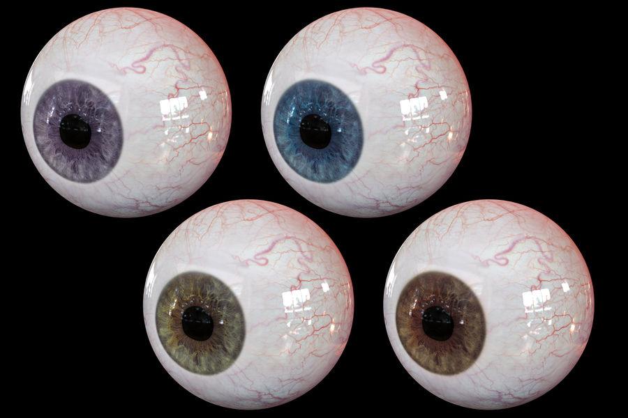 Реалистичный человеческий глаз V2 royalty-free 3d model - Preview no. 19