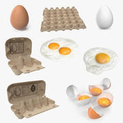 Chicken Eggs 3D Models Collection 3 3d model