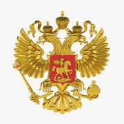 El emblema nacional de Rusia Eagle 2 Head V2 modelo 3d