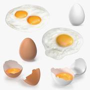 Chicken Eggs 3D 모델 컬렉션 2 3d model
