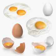 Chicken Eggs 3D Models Collection 2 3d model