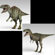 Acrocanthosaurus and Albertosaurus 3d model