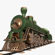 Steam Train 3d model