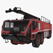 Oshkosh Striker 4500 Flughafen Feuerwehrauto Rot M2 3d model