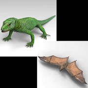 GreenLizard_Bat 3d model
