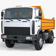 Pup Dump Truck MAZ 3d model