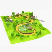 Мультфильм пейзаж 3d model