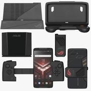 Asus ROGPhone mit allem Zubehör 3d model