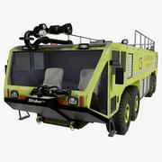 Oshkosh Striker 4500 Flughafen Feuerwehrauto Grün 3d model