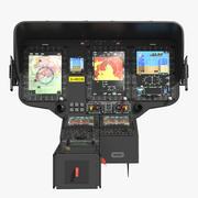 Panel sterowania przyrządu helikoptera 3d model