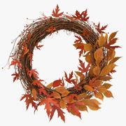 Autumn Wreath 02 3d model