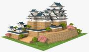 Himeji Kalesi, Japonya 3d model