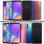 Samsung Galaxy A7 2018 & A9 2018 Collection 3d model