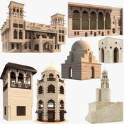 Grands bâtiments islamiques arabes 3d model