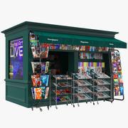 Nyheter Stand Kiosk Booth 3d model