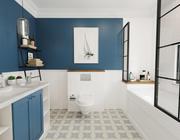 레트로 욕실 인테리어 모델 3d model
