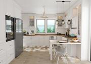 乡村厨房室内场景 3d model