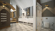 豪華なバスルームトイレサウナ 3d model