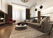 Living Room Interior Scene 3d model