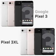 Google Pixel 3XL y Pixel 3 todos los colores modelo 3d