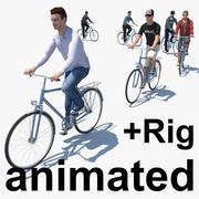 Düşük Poli Bisikletçiler 3d model