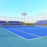Tennisbana 3d model